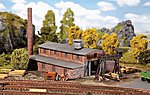 Wood Plant Kit -- N Scale Model Railroad Building -- #232247