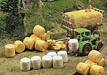 Silo & Straw Bales -- N Scale Model Railroad Building Accessory -- #272562