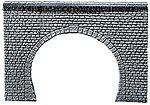 Double Track Tunnel Portal (Natural Stone Ashlars) -- N Scale Model Railroad Tunnel -- #272631
