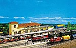 Two Covered & One Open Platforms Kit -- Z Scale Model Railroad Accessory -- #282718