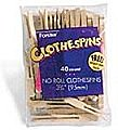 Flat No-Roll Clothespins (40/Bag)