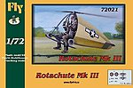 Rotachute Mk III One-Man Rotor Kite Aircraft -- Plastic Model Airplane Kit -- 1/72 Scale -- #72021