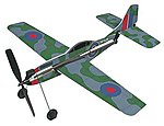 11'' Wingspan Spitfire Rubber Band Pwd Wood Glider Kit