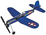 11'' Wingspan F4U Corsair Rubber Band Pwd Wood Glider Kit