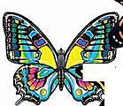 43''x26'' Peacock Butterfly Wing Flapper Kite -- Single-Line Kite -- #841