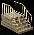 Single-Wide Stair -- The Cube Modular System Component Kit -- HO Scale -- #11607