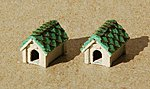 Dog House (Laser-Cut Wood Kit) w/15 Laser-cut pieces & Shingles & Caps -- N Scale -- #159