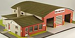 Village Hall & Volunteer Fire Dept. Kit -- HO-Scale Model Building -- #19037