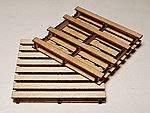 Pallet Laser-Cut Wood Kit (4-Pack) -- G Scale Model Railroad Accessory -- #41101