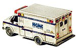 Ambulance (Unpainted Metal Kit) -- N Scale Model Railroad Vehicle -- #51012