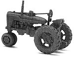 Farm-All Super M-TA Tractor (Unpainted Metal Kit) -- N Scale Model Railroad Vehicle -- #54005