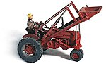 1950s ''Red'' Super M-TA Farm Tractor (Unpainted Metal Kit) -- HO Scale Model Vehicle -- #60005