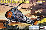 H-34 US Navy Rescue -- Plastic Model Helicopter Kit -- 1/48 Scale -- #64102