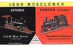 General Civil War Hero & Porter Switcher Locos -- Plastic Model Locomotive Kit -- 1/120 -- #03603