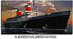 SS United States Ocean Liner -- Plastic Model Commercial Ship Kit -- 1/400 Scale -- #09301