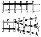 Mine Track Curve & Switch 18'' Gauge -- O Scale Steel Model Train Track -- #3045