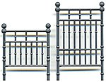 Wrought Iron Bed Headboard & Footboard -- O Scale Model Railroad Building Accessory -- #3587