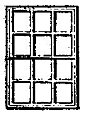 12 Pane Double Hung Window (8) -- HO Scale Model Railroad Building Accessory -- #5009