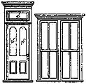 Victorian Storefront Door & Window Set (1) -- HO Scale Model Railroad Building Accessory -- #5115