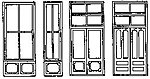 Commercial Storefront Window & Door Set (2) -- HO Scale Model Railroad Building Accessory -- #5165