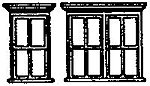 Victorian Windows Single/Double (2 Sets) -- N Scale Model Railroad Building Accessory -- #8020