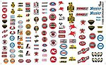 Manufacturer Sponsor Logos #1 -- Plastic Model Vehicle Decal -- 1/24 Scale -- #11006