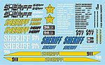 Sheriff Decals -- Plastic Model Vehicle Decal -- 1/25 Scale -- #11025
