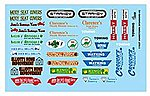 1/24-1/25 Hometown Sponsor Logos #2 -- Plastic Model Vehicle Decal -- #11027