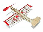 Rockstar Jet Aircraft Mini Laser Cut Kit