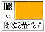 (bulk of 6) Solvent-Based Acrylic Semi-Gloss Yellow RLM04 10ml Bottle (6/Bx)