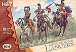 French Lancers -- Plastic Model Military Figure -- 1/72 Scale -- #8011