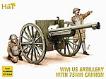 US Artillery WWI -- Plastic Model Weapon Kit -- 1/72 Scale -- #8158
