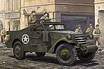 M3A1 White Scout Car -- Plastic Model Military Vehicle Kit -- 1/35 Scale -- #82452