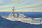 USS Arleigh Burke DDG-51 -- Plastic Model Military Ship Kit -- 1/700 Scale -- #83409