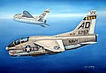 TA-7C Corsair II -- Plastic Model Airplane Kit -- 1/72 Scale -- #87209