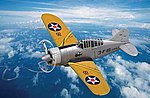 US F2A Buffalo -- Plastic Model Airplane Kit -- 1/72 Scale -- #hy80290