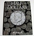 Half Dollar Plain Coin Folder -- Coin Collecting Book and Supply -- #2698
