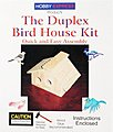 Duplex Birdhouse Kit with PD Holes -- Wooden Bird House Kit -- #60004pd