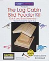 Log Cabin Bird Feeder Kit -- Wooden Bird House Kit -- #60009
