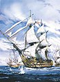 HMS Victory -- Plastic Model Sailing Ship Kit -- 1/100 Scale -- #80897