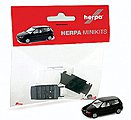 Minikit Volkswagen Polo 2-Door - Kit - Black -- HO Scale Model Railroad Vehicle -- #12140