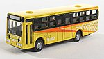Bus Type 2 yellow with Light -- N Scale Model Railroad Vehicle -- #63683