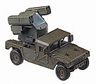 US/NATO Hummer with Avenger Grenade Launcher -- HO Scale Model Railroad Vehicle -- #741569