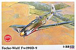 Fockewulf Fw190D-9 -- Plastic Model Airplane Kit -- 1/32 Scale -- #08069