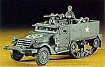 M4A1 Half Track -- Plastic Model Halftrack Kit -- 1/72 Scale -- #31107