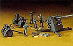88mm Gun Flak 18 -- Plastic Model Military Diorama -- 1/72 Scale -- #31110