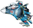 Egg Plane SU-33 Flanker D -- Plastic Model Airplane Kit -- #60131