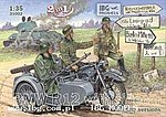 Military BMW R12 Motorcycle with Sidecar -- Plastic Model Motorcycle Kit -- 1/35 Scale -- #35002