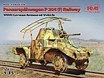 WWII German Panzerspahwagen P204(f) Railway -- Plastic Model Military Vehicle Kit -- 1/35 -- #35376