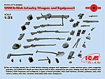 WWI British Infantry Weapons & Equipment (New Tool) -- Plastic Model Weapon -- 1/35 -- #35683